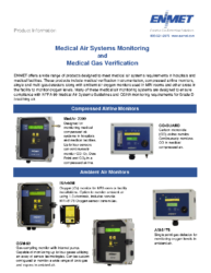 Medical Air Monitors Brochure