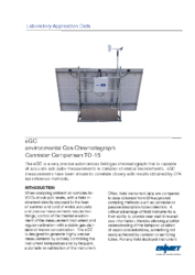 Lab Application Data – eGC Canister TO-15